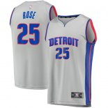 Detroit Pistons Derrick Rose Fanatics Branded Gray Fast Break Replica Player Jersey - Statement Edition