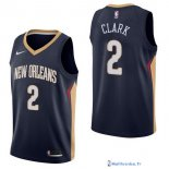Maillot NBA Pas Cher New Orleans Pelicans Ian Clark 2 Marine Icon 2017/18