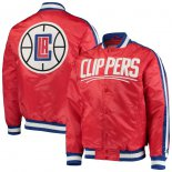 LA Clippers Starter Red The Offensive Varsity Satin Full-Snap Jacket