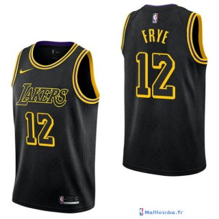 Maillot NBA Pas Cher Los Angeles Lakers Channing Frye 12 Nike Noir Ville 2017/18