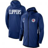 LA Clippers Nike Royal Authentic Showtime Therma Flex Performance Full-Zip Hoodie