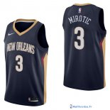 Maillot NBA Pas Cher New Orleans Pelicans Nikola Mirotic 3 Marine Icon 2017/18