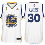 Maillot NBA Pas Cher Finales Golden State Warriors Blanc Curry 30