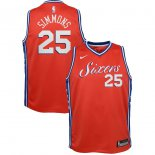 Philadelphia 76ers Ben Simmons Nike Red Swingman Jersey