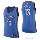 Maillot NBA Pas Cher Oklahoma City Thunder Femme Paul George 13 Bleu Icon 2017/18