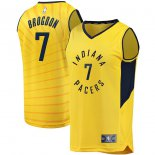 Indiana Pacers Malcolm Brogdon Fanatics Branded Gold Fast Break Replica Jersey - Statement Edition