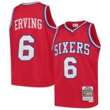Philadelphia 76ers Julius Erving Mitchell & Ness Red Swingman Throwback Jersey