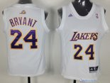 Maillot NBA Pas Cher Los Angeles Lakers Femme Kobe Bryant 24 Blanc
