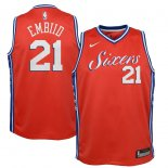 Philadelphia 76ers Joel Embiid Nike Red Swingman Jersey - Statement Edition