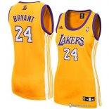 Maillot NBA Pas Cher Los Angeles Lakers Femme Kobe Bryant 24 Jaune