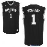 Maillot NBA Pas Cher San Antonio Spurs Tracy McGrady 1 Noir