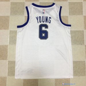 Maillot NBA Pas Cher Golden State Warriors Nick Young 6 Nike Retro Blanc 2017/18