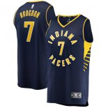Indiana Pacers Malcolm Brogdon Fanatics Branded Navy Fast Break Replica Jersey - Icon Edition