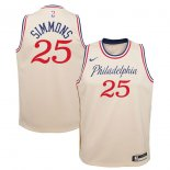 Philadelphia 76ers Ben Simmons Nike Cream Swingman Jersey Jersey – City Edition