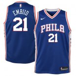 Philadelphia 76ers Joel Embiid Nike Royal Swingman Jersey - Icon Edition
