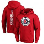 LA Clippers Paul George Fanatics Branded Red Team Playmaker Name & Number Pullover Hoodie