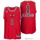 Maillot NBA Pas Cher Noël Chicago Bulls Rose 1 Rouge 01