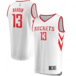 Houston Rockets James Harden Fanatics Branded White Fast Break Replica Jersey - Association Edition