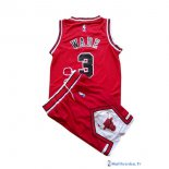 Maillot NBA Pas Cher Chicago Bulls Junior Dwyane Wade 3 Rouge