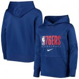 Philadelphia 76ers Nike Royal Spotlight Performance Pullover Hoodie