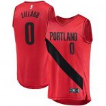 Portland Trail Blazers Damian Lillard Fanatics Branded Red Fast Break Player Jersey - Statement Edition