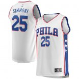 Philadelphia 76ers Ben Simmons Fanatics Branded White Fast Break Replica Jersey - Association Edition