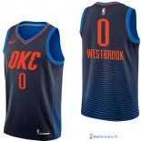 Maillot NBA Pas Cher Oklahoma City Thunder Junior Russell Westbrook 0 Marine Statement 2017/18