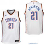 Maillot NBA Pas Cher Oklahoma City Thunder Junior Andre Roberson 21 Blanc Association 2017/18