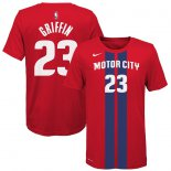 Detroit Pistons Blake Griffin Nike Red 2019/20 City Edition Name & Number T-Shirt