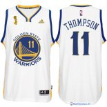 Maillot NBA Pas Cher Finales Golden State Warriors Blanc Thompson 11