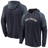 New Orleans Pelicans Fanatics Branded NavyHeathered Navy Made to Move Static Performance Raglan Pullover Hoodie
