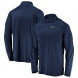 New Orleans Pelicans Fanatics Branded Navy Iconic Striated Raglan Quarter-Zip Pullover Jacket