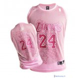 Maillot NBA Pas Cher Los Angeles Lakers Femme Kobe Bryant 24 Rouge Blanc