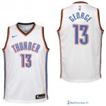 Maillot NBA Pas Cher Oklahoma City Thunder Junior Paul George 13 Blanc Association 2017/18