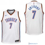 Maillot NBA Pas Cher Oklahoma City Thunder Junior Carmelo Anthony 7 Blanc Association 2017/18