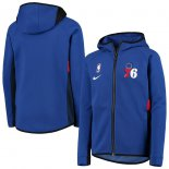 Philadelphia 76ers Nike Royal Team Logo Showtime Performance Raglan Full-Zip Hoodie