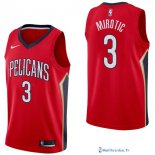 Maillot NBA Pas Cher New Orleans Pelicans Nikola Mirotic 3 Rouge Statement 2017/18