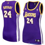 Maillot NBA Pas Cher Los Angeles Lakers Femme Kobe Bryant 24 Pourpre