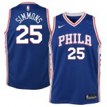 Philadelphia 76ers Ben Simmons Nike Royal Swingman Jersey - Icon Edition