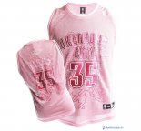 Maillot NBA Pas Cher Oklahoma City Thunder Femme Kevin Durant 35 Rose