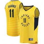 Indiana Pacers Domantas Sabonis Fanatics Branded Gold Fast Break Player Replica Jersey - Statement Edition