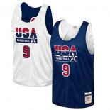 USA Basketball Michael Jordan Mitchell & Ness Navy Training 1992 Dream Team Authentic Reversible Practice Jersey