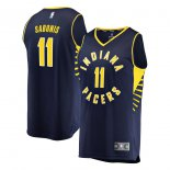 Indiana Pacers Domantas Sabonis Fanatics Branded Navy Fast Break Replica Player Jersey - Icon Edition