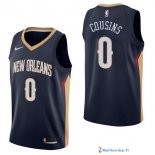 Maillot NBA Pas Cher New Orleans Pelicans DeMarcus Cousins 0 Marine Icon 2017/18