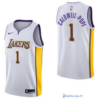 Maillot NBA Pas Cher Los Angeles Lakers Kentavious Caldwell Pope 1 Blanc Association 2017/18