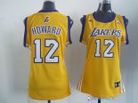 Maillot NBA Pas Cher Los Angeles Lakers Femme Dwight Howard 12 Jaune