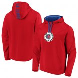 LA Clippers Fanatics Branded RedRoyal Iconic Defender Performance Primary Logo Pullover Hoodie