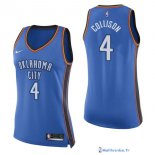 Maillot NBA Pas Cher Oklahoma City Thunder Femme Nick Collison 4 Bleu Icon 2017/18