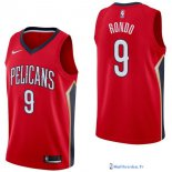 Maillot NBA Pas Cher New Orleans Pelicans Rajon Rondo 9 Rouge Statement 2017/18